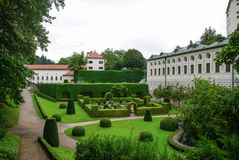 Garden of  Ambras Castle Schloss Ambras a Renaissance sixteent. Garden of Ambras Castle Schloss Ambras a Renaissance sixteenth century castle and palace located Stock Photo