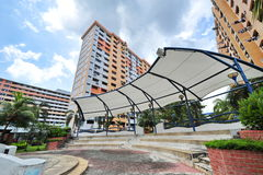 Public housing neighborhood in Singapore Royalty Free Stock Photography