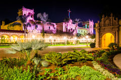 Garden And The Prado Restaurant At Night Stock Photography