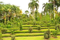 Garden With Animal Shaped Design Royalty Free Stock Photos