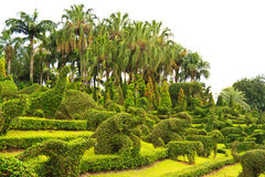 Garden With Animal Shaped Design Stock Photography