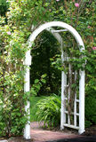 Garden Arbor. Gate or arbor into a garden Stock Image