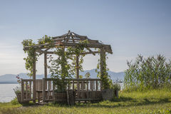 Garden arbor at the Chiemsee Stock Images