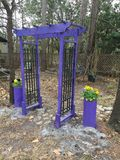 Garden Arch painted Lavender stock photography