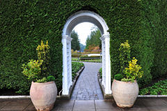 Garden arch and path Stock Images