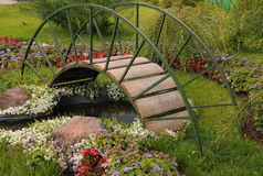 Garden Arched Bridge Royalty Free Stock Image