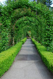 Garden arches and path. Beautiful garden arches and path inside the historic butchart gardens (over 100 years in bloom), vancouver island, british columbia royalty free stock image