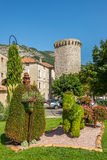 Garden architecture in Sisteron Stock Photo