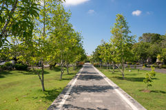 Garden around Bajra Sandhi Monument in Denpasar, Bali Stock Image