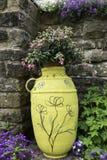 Garden arrangement of various plants. Royalty Free Stock Photo