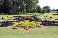 Garden art. garden design. flower beds Stock Photos