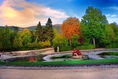 Garden in autum Royalty Free Stock Photos