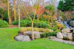 Garden at autumn Royalty Free Stock Photos