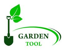 Garden background with shovel Royalty Free Stock Photos