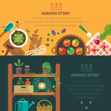 Garden backgrounds for site Royalty Free Stock Photos