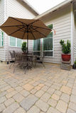 Garden Backyard Patio with Furniture Royalty Free Stock Image