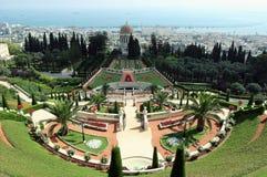 Garden Bahai. A beautiful view of the Bahai Gardens in Haifa, Israel Royalty Free Stock Photography