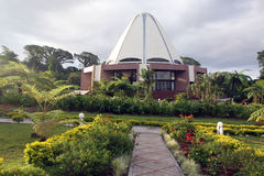 Garden and bahai temple Royalty Free Stock Images