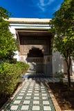 Garden of Bahia Palace in Marrakesh,Morocco.  Stock Photography