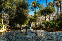 Garden of Bahia Palace in Marrakesh,Morocco.  Royalty Free Stock Images