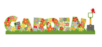 Garden banner stock illustration