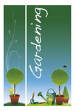 Garden banners Royalty Free Stock Image