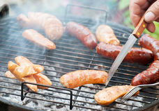 Garden barbecue Royalty Free Stock Photography