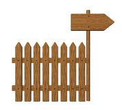 Garden barrier and signpost Royalty Free Stock Photos