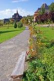 Garden of barsana monastery royalty free stock image