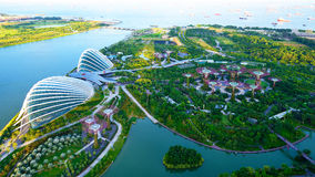 Garden by the Bay. Aerial view of Garden by the Bay, Singapore Stock Image