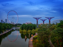 Garden by the Bay park Stock Image
