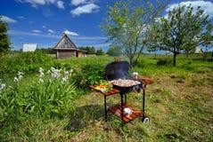 Garden BBQ Stock Image