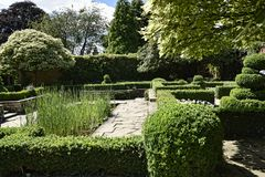 Garden at Beautiful Country House near Leeds West Yorkshire that is not National Trust Royalty Free Stock Photos