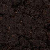 Garden beds of fertile soil close-up Royalty Free Stock Photos