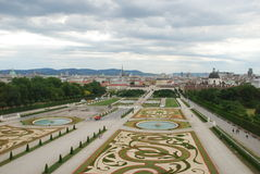 Garden in Belvedere Palace Stock Photography