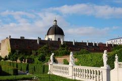 Garden of Belvedere Palace in Vienna, Austria Royalty Free Stock Photos
