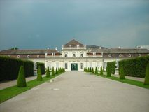 Garden of the Belvedere palace, Vienna, Austria Stock Photography
