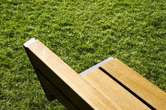 Garden bench. Modern garden bench detail in a private ward royalty free stock images