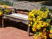 Garden Bench. Photo from a bench Royalty Free Stock Image
