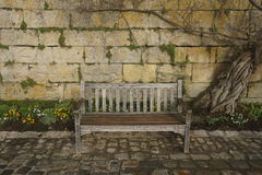 Garden bench in Amboise. Scenery, to meditate, to make a date, place of inspiration Royalty Free Stock Photos