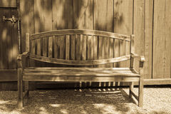 Garden Bench in Antique Light Stock Photo