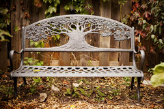 Garden bench in Autumn Royalty Free Stock Photography