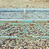 Garden bench. Close up of a vintage garden bench with rust Stock Images