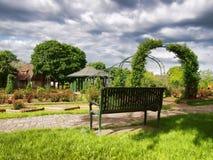 Garden bench Stock Image