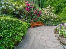 Garden bench Stock Images