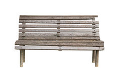 Garden bench. Wooden garden bench (with clipping path) isolated on white background stock photos