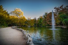 Autumn in a garden I publish and historically in valladolid Esapaña Royalty Free Stock Image