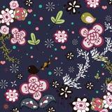 Garden bird design Royalty Free Stock Images