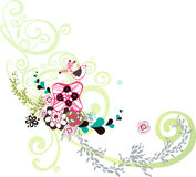 Garden bird design Stock Image