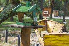 Garden bird table Royalty Free Stock Image